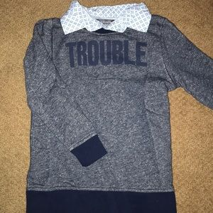 """Children's place """"trouble"""" sweater"""